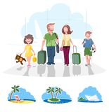 Family going on vacation Stock Images