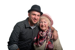 Family - grandmother and her grandson. Royalty Free Stock Photo