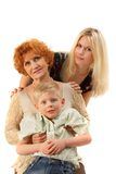 Family: Grandmother, Mother, Son. Royalty Free Stock Images