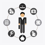Family. Graphic design , vector illustration Royalty Free Stock Photo