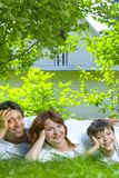 Family on grass Royalty Free Stock Photography