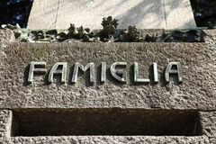 Family grave Stock Photo