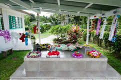 Family grave in Rarotonga Cook Islands Royalty Free Stock Photos
