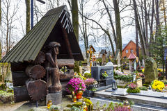 Family grave in Zakopane in Poland Royalty Free Stock Photo
