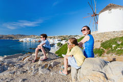 Family in Greece Stock Photography