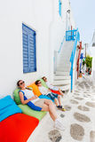 Family in Greece Royalty Free Stock Images