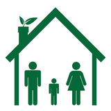 Family in green home Stock Photography