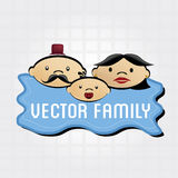 Family grid Royalty Free Stock Photography