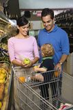 Family grocery shopping. Royalty Free Stock Image