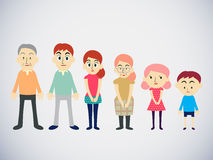 Family group  cartoon vector illustration Stock Photo
