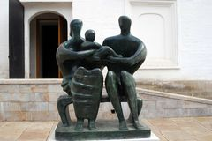 Family group by Henry Moore. MOSCOW - APRIL 24: Family group by a famous English sculptor and artist Henry Moore eshibited at Moscow Kremlin, Russia. Photo is Stock Photography