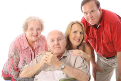 Family with handicap father Royalty Free Stock Photo