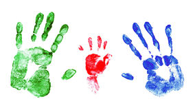 Family handprints Stock Photography