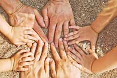 Family hands Royalty Free Stock Image