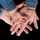 Family hands Royalty Free Stock Photos