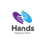 Family hands Care logo Stock Image