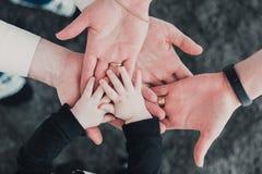 Family hands photo Royalty Free Stock Photo