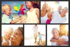 Family Happiness Beach Tropical Paradise Fun Concept.  Royalty Free Stock Photos