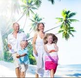 Family Happiness Beach Tropical Paradise Fun Concept Stock Photos