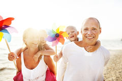 Family Happiness Beach Tropical Paradise Fun Concept Royalty Free Stock Photography