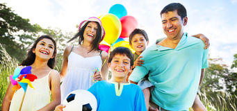 Family Happiness Holiday Vacation Activity Concept Royalty Free Stock Images