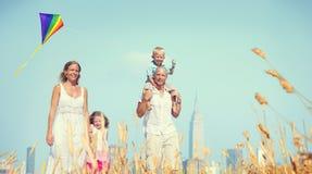 Family Happiness Holiday Vacation Activity Concept Stock Photos