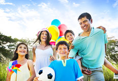 Family Happiness Holiday Vacation Activity Concept.  royalty free stock photo