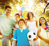 Family Happiness Parents Holiday Vacation Activity Concept Stock Images