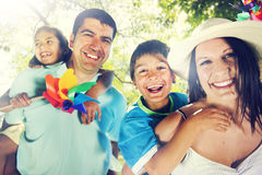 Family Happiness Parents Holiday Vacation Activity Concept.  Stock Photography