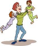 Family - Happy Family. Happy Family cartoon artwork line-art vector illustration