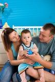 family happy home στοκ εικόνα με δικαίωμα ελεύθερης χρήσης