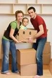 family happy home kid moving new στοκ φωτογραφία με δικαίωμα ελεύθερης χρήσης