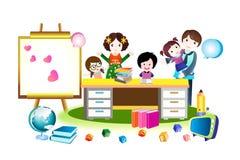Family Happy House. Happy family - illustraion eps 10 Royalty Free Stock Images
