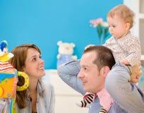 family happy playing together Στοκ Εικόνα