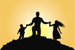 Family. Happy family together at sunset Royalty Free Illustration