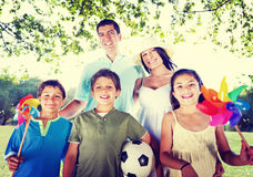 Family Happy Vacation Outdoors Relaxation Nature Concept Stock Photos