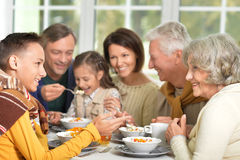 Family have breakfast Royalty Free Stock Photography