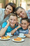 Family have breakfast Royalty Free Stock Photo