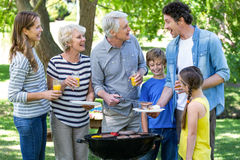 Family having a barbecue Royalty Free Stock Photography