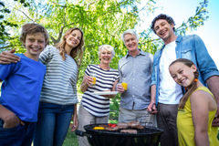 Family having a barbecue Royalty Free Stock Image