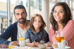 Family having breakfast Royalty Free Stock Photography