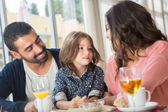 Family having breakfast Royalty Free Stock Photos