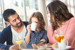 Family having breakfast Stock Photos