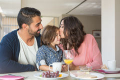 Family having breakfast Stock Photography