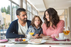 Family having breakfast Stock Image