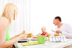 Family having breakfast Stock Photos
