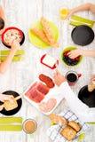 Family having breakfast Stock Image