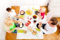 Family having breakfast Stock Photography