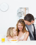 Family having breakfast together Stock Photo