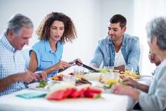 Family having breakfast together Stock Image